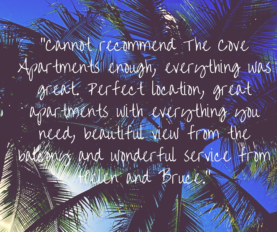 """""""Cannot recommend The Cove Apartments enough, (1)"""